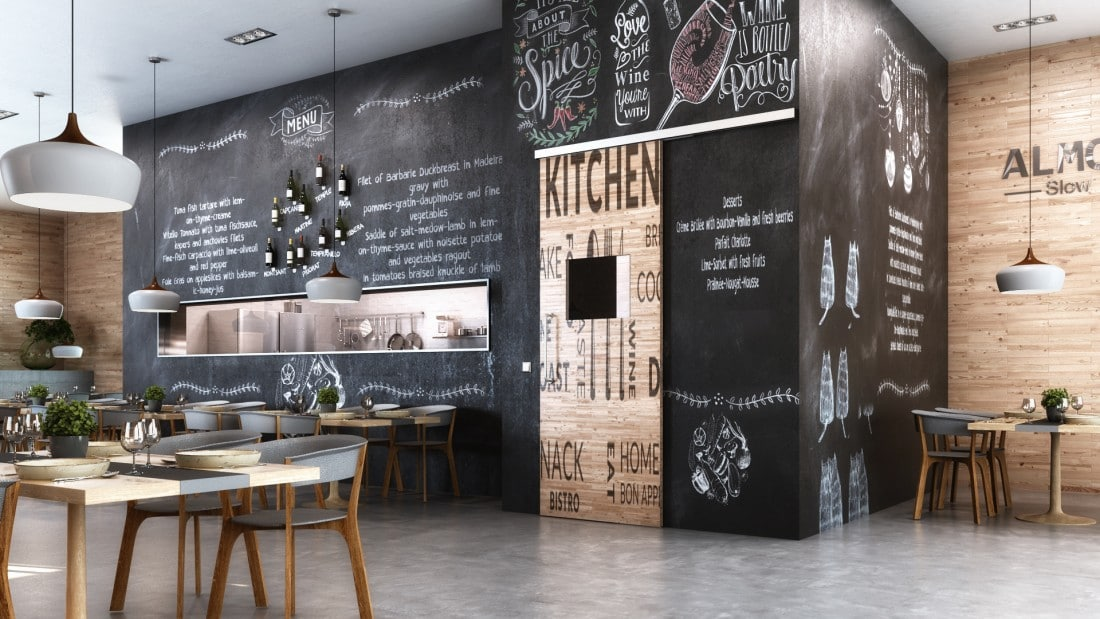 Automatische deur restaurant