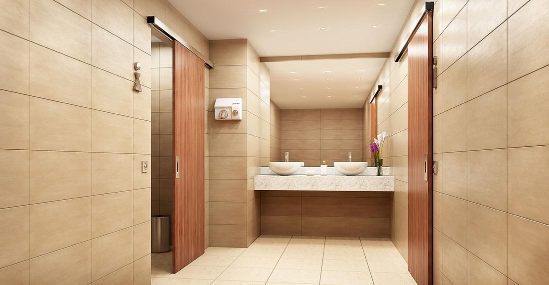 Automatische deur toilet